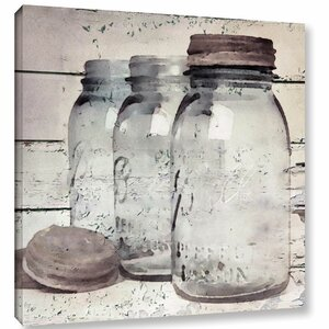 'Vintage Jars II' Graphic Art Print on Wrapped Canvas by Laurel Foundry Modern Farmhouse