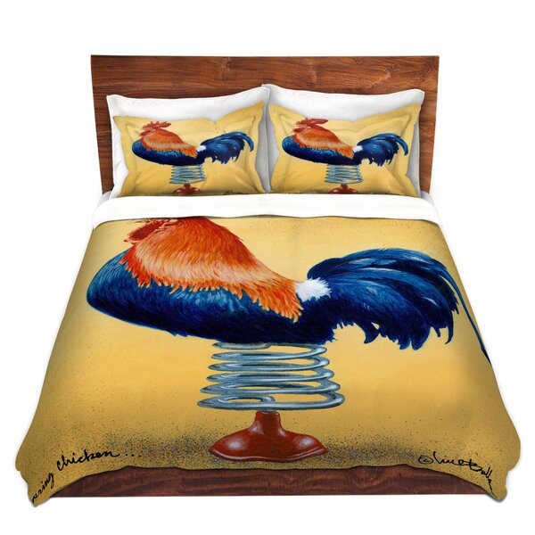 Spring Chicken Duvet Cover Set