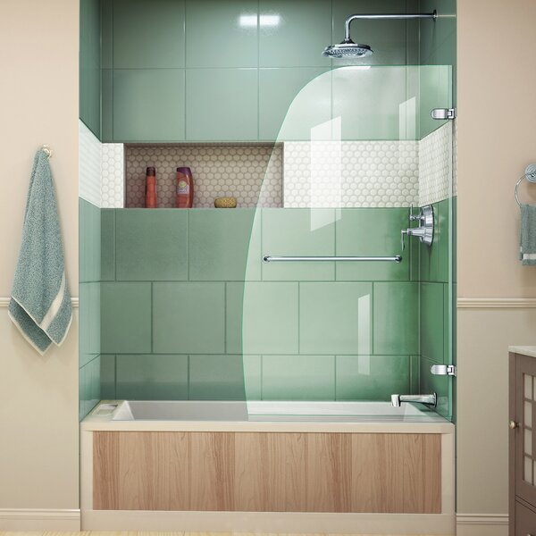 Aqua Uno 34.31 x 58 Pivot Frameless Tub Door by DreamLine