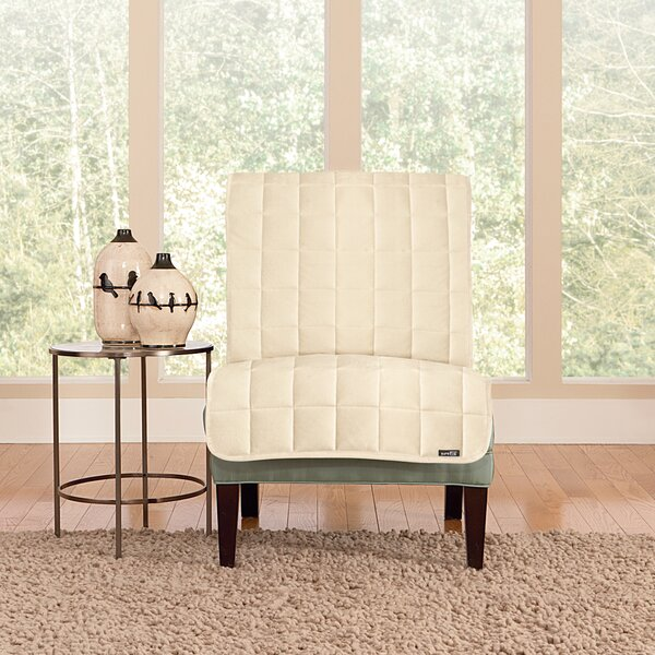 Deluxe Comfort Quilted Armless Box Cushion Chair Slipcover by Sure Fit