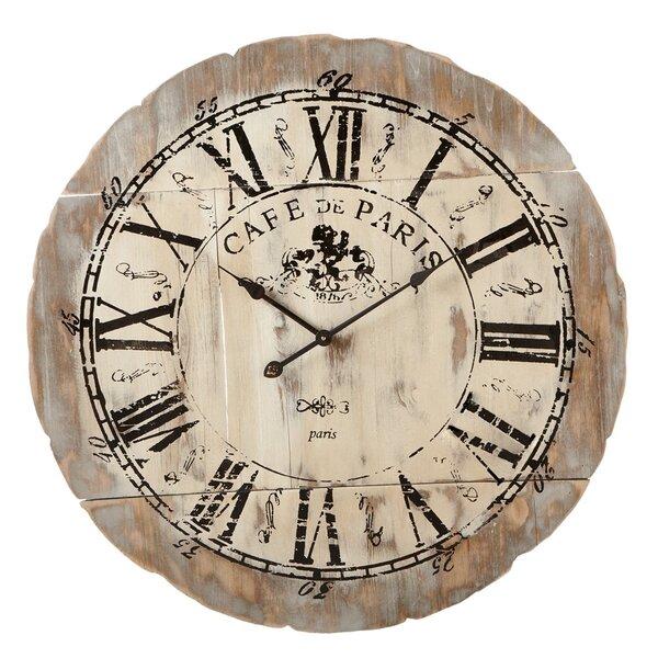 Oversized 33.5 Cafe De Paris Wall Clock by One Allium Way