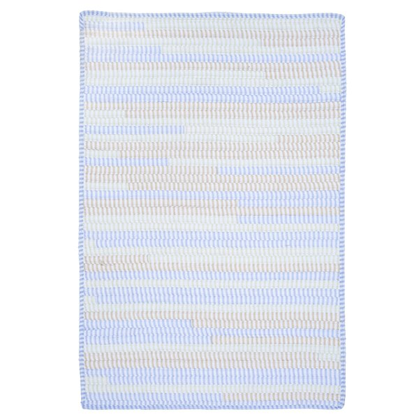 Ticking Stripe Rect Starlight Area Rug by Colonial Mills