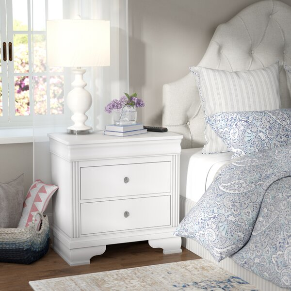 Hewitt 2 Drawer Nightstand by Three Posts