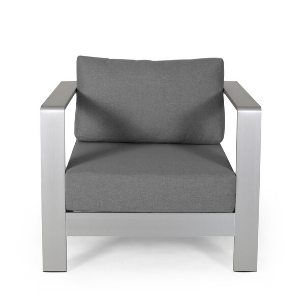 Wolsingham Outdoor Patio Chair with Cushions (Set of 2) by Orren Ellis