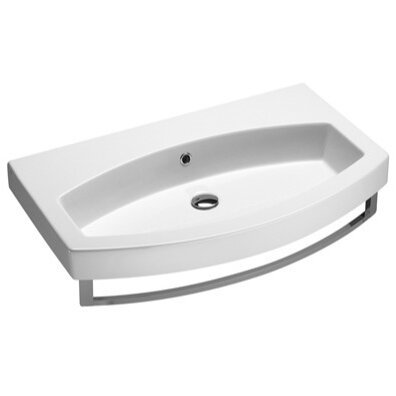 Losagna Ceramic U-Shaped Drop-In Bathroom Sink with Overflow by GSI Collection