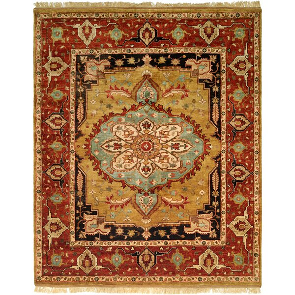 Khobar Hand-Knotted Brown/Gold Area Rug by Wildon Home ®