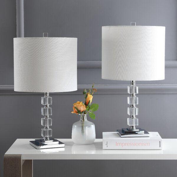 Dinjar LED Crystal/Metal 22 Table Lamp (Set of 2) by Orren Ellis