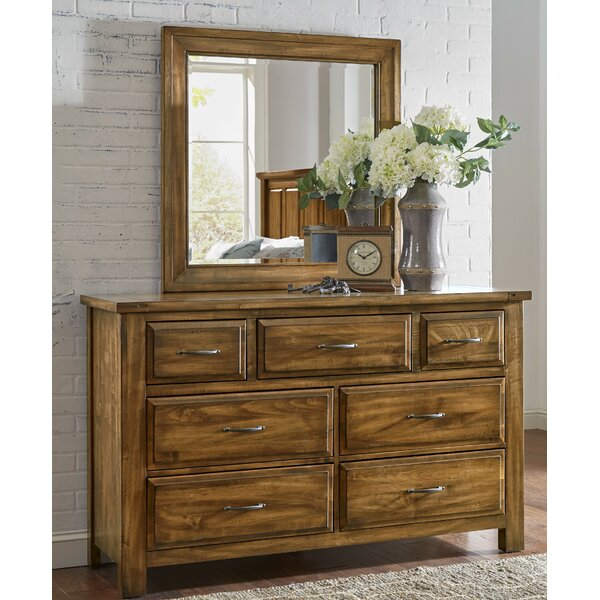 Nixa 7 Drawer Dresser with Mirror by Foundry Select