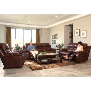 Patton Leather Reclining Loveseat