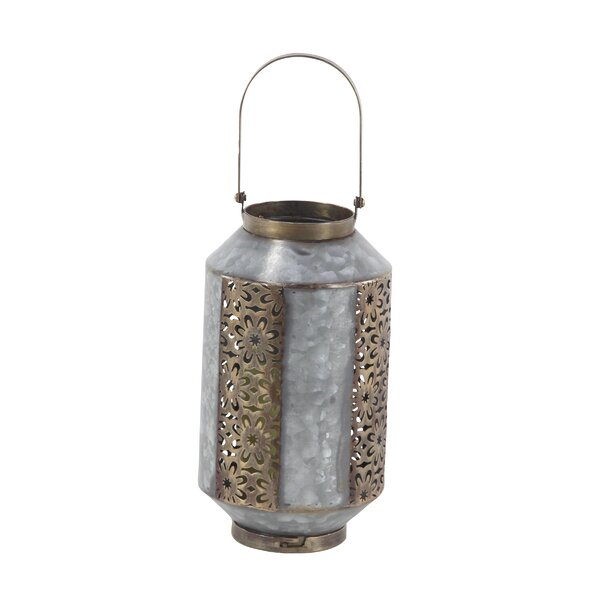 Rustic Metal Lantern by World Menagerie