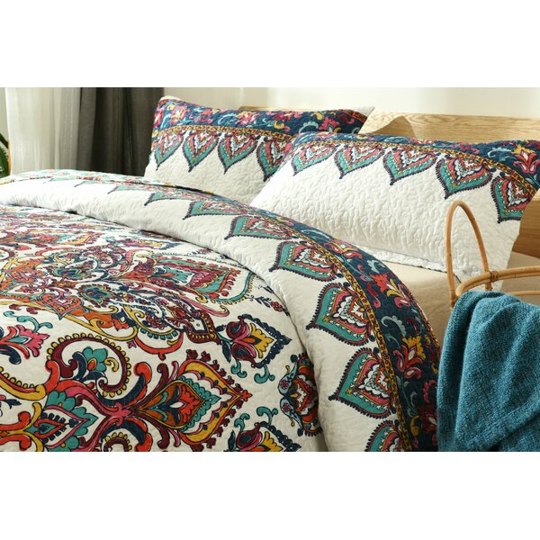 Mauro Earthy Meadow Reversible Quilt Set by Bungalow Rose