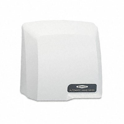Compact Automatic 115 Volt Hand Dryer in Grey by Bobrick