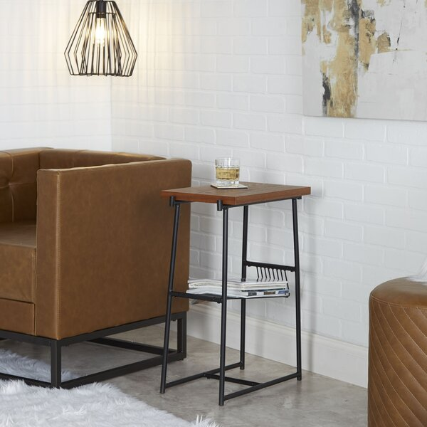 Rentas Industrial End Table With Storage By Williston Forge