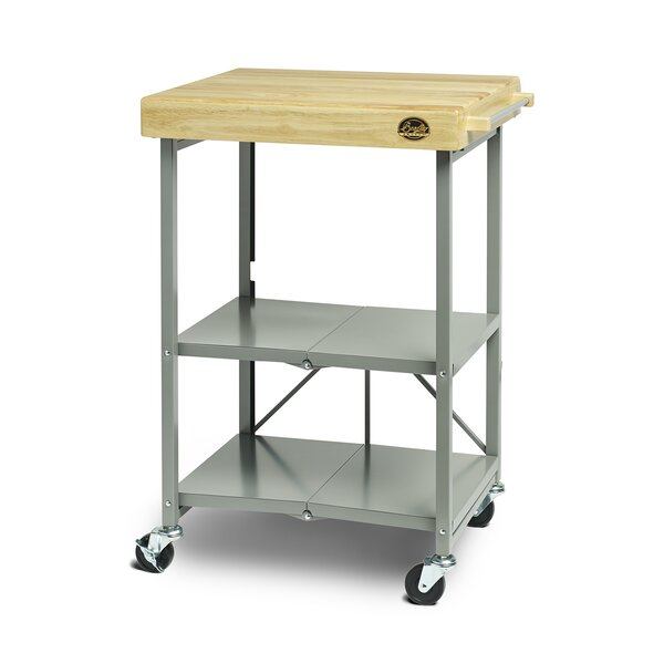 Kitchen Cart with Wood Top by Bradley Smoker