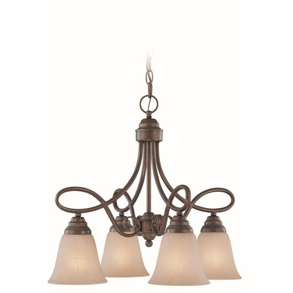 Ellis 4-Light Shaded Classic / Traditional Chandelier By Charlton Home