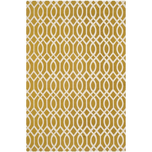 Warner Robins Hand Woven Citron/Ivory Area Rug by Charlton Home