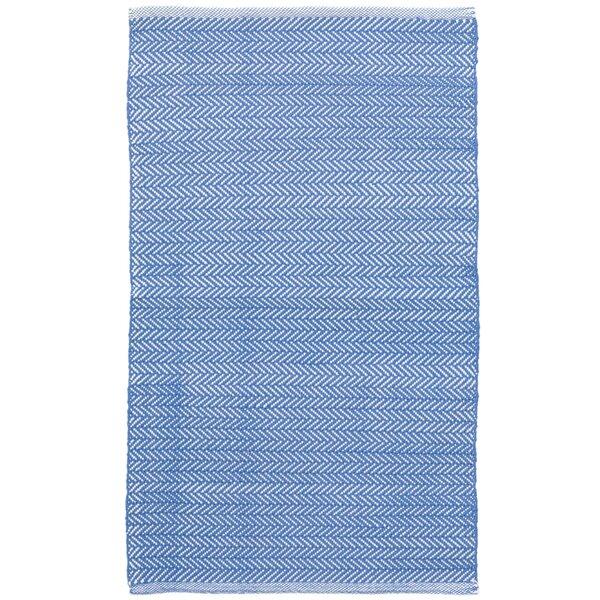 C3 Herringbone Blue Indoor/Outdoor Area Rug by Dash and Albert Rugs