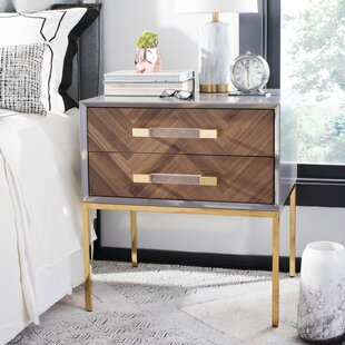 Reviews Kitterman 2 Drawer End Table By Everly Quinn