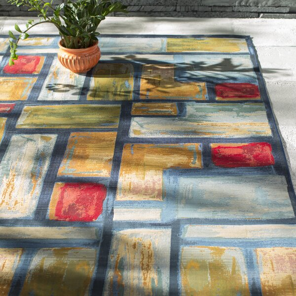 Ocampo Blue Indoor/Outdoor Area Rug by Red Barrel Studio