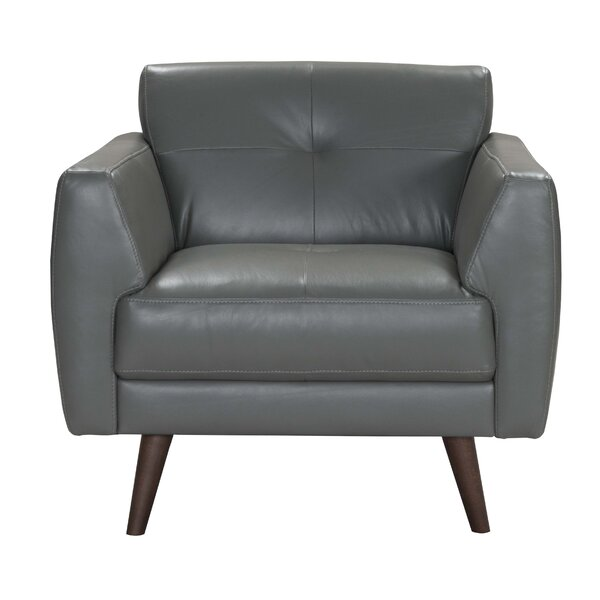 Todd Leather Armchair by Corrigan Studio
