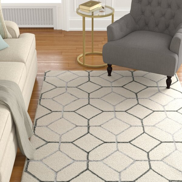 Kirkbride Ivory/Gray Area Rug by Charlton Home