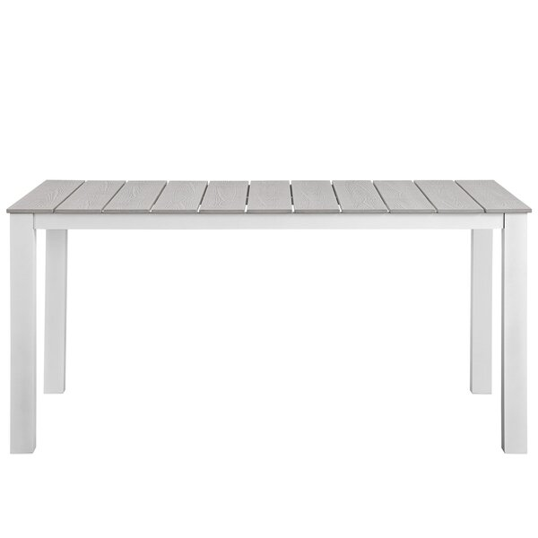 Ellport Plastic Patio Dining Table by Latitude Run