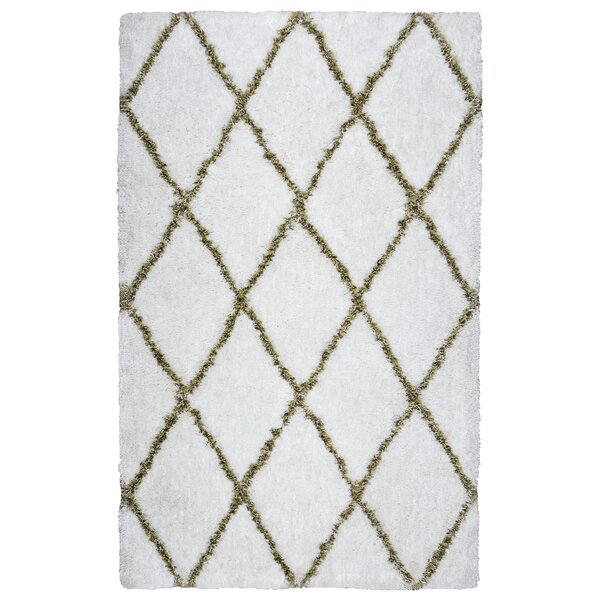 Beesley Hand-Tufted White/Beige Area Rug by Ivy Bronx