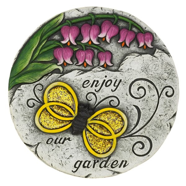 Mabie Enjoy Our Garden Stepping Stone by Winston Porter