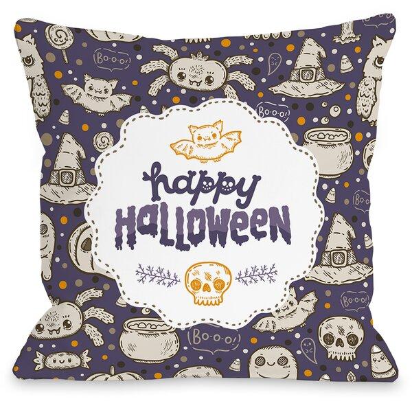 Halloween Friends Throw Pillow by One Bella Casa