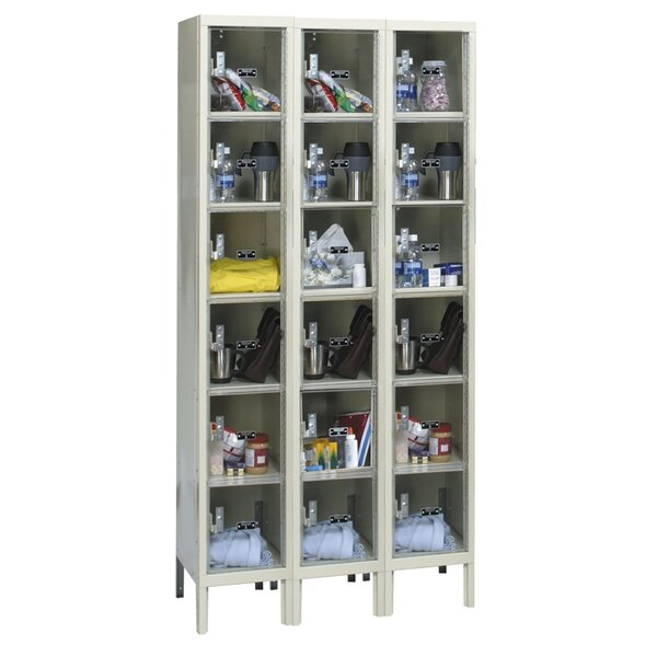 Safety-View 6 Tier 3 Wide Safety Locker by HallowellSafety-View 6 Tier 3 Wide Safety Locker by Hallowell