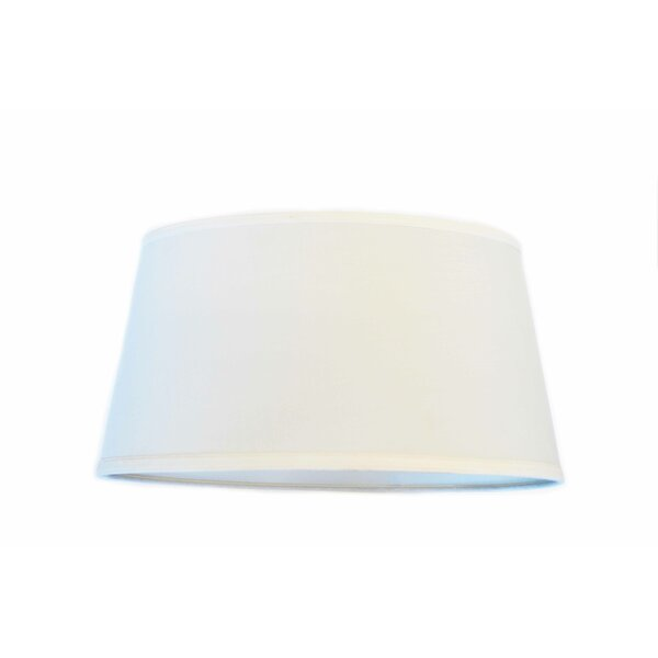 10 H Linen Empire Lamp shade ( Spider ) in Off White