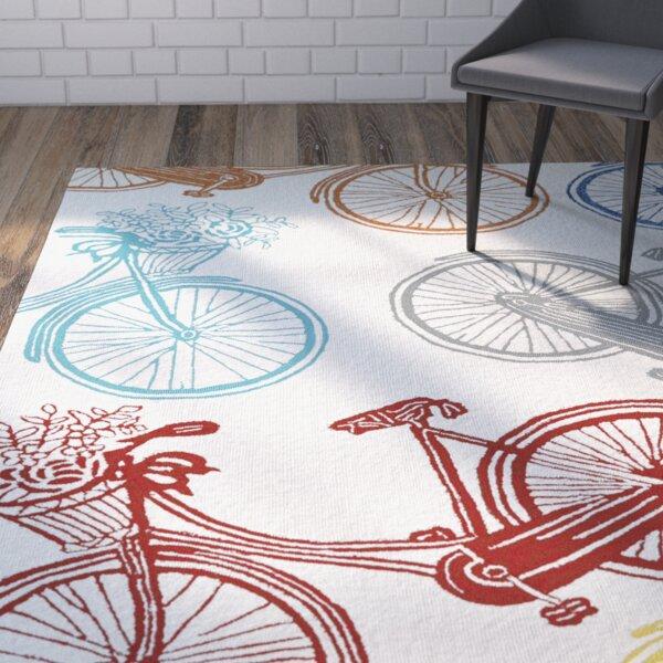 Sea Handmade Indoor / Outdoor Area Rug by Wrought Studio