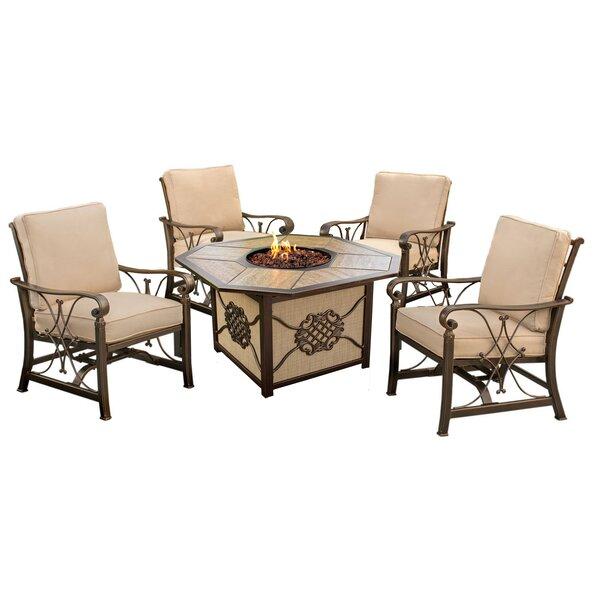 Bradenville 5 Piece Conversation Set with Cushions by Fleur De Lis Living