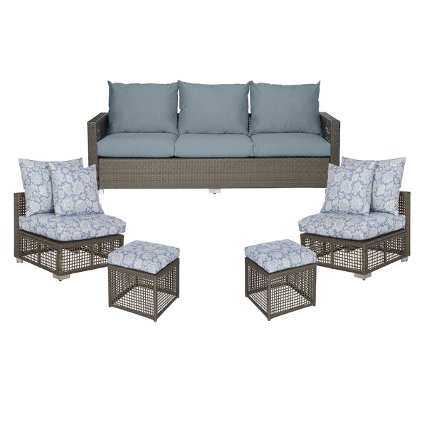 Ellie Patio Sofa with Cushions by Ivy Bronx