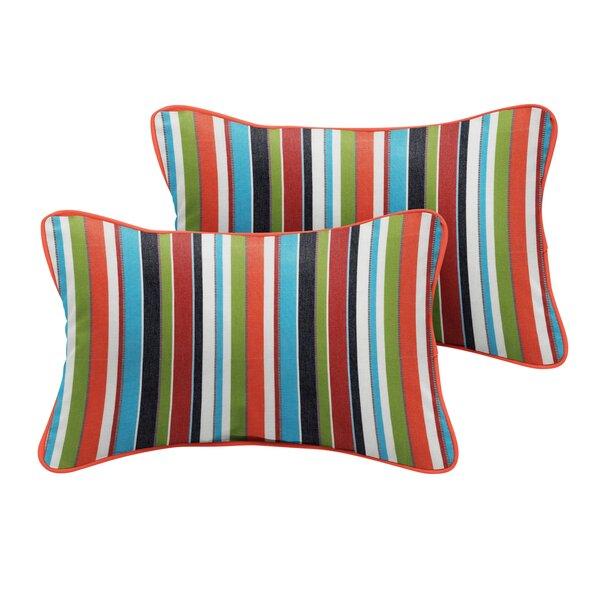 Khoa Sunbrella Carousel Confetti Outdoor Lumbar Pillow (Set of 2) by Bayou Breeze