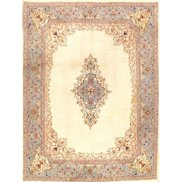 Royal Kerman Design Hand-Knotted Wool Ivory Area Rug by Pasargad NY