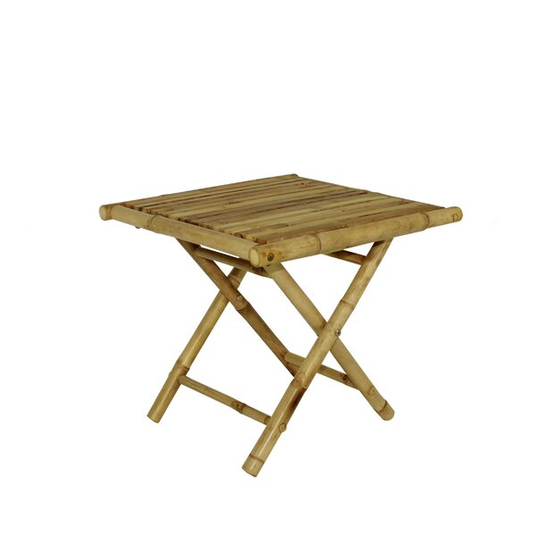 Lefke Square Low Folding Side Table by Bay Isle Home