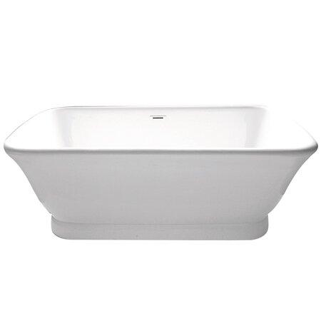 Aqua Eden 70 x 34  Freestanding Soaking Bathtub by Kingston Brass