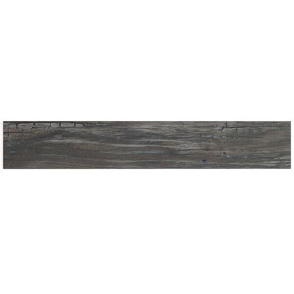 Grove 4 x 24 Porcelain Wood Look Tile in Black by Splashback Tile