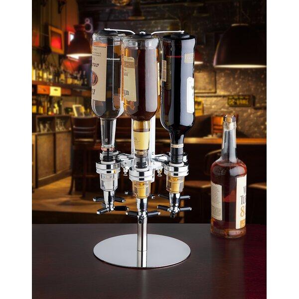 6 Bottle Liquor Beverage Dispenser by Godinger Silver Art Co