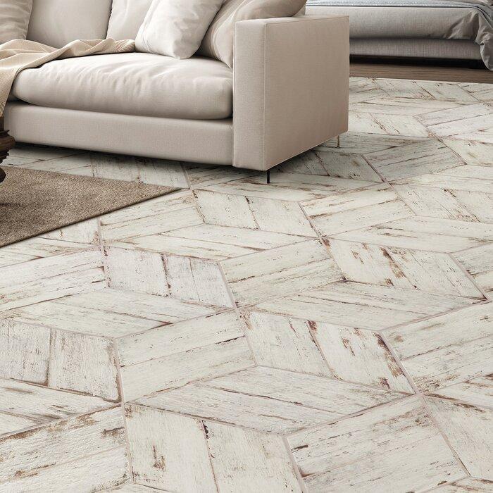 Rama 7 X 17 Porcelain Wood Look Tile In Blanco