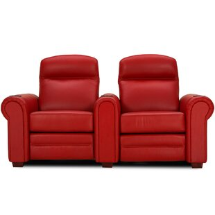 Leather Home Theater Loveseat (Row of 2) Red Barrel Studio