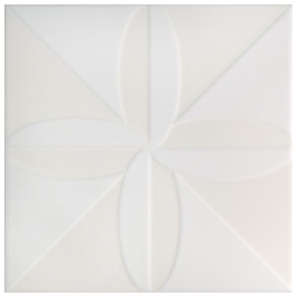 Tres Fronteira 7.75 x 7.75 Ceramic Field Tile in White by EliteTile