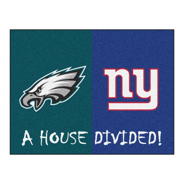 NFL House Divided - Eagles / Giants House Divided Mat by FANMATS