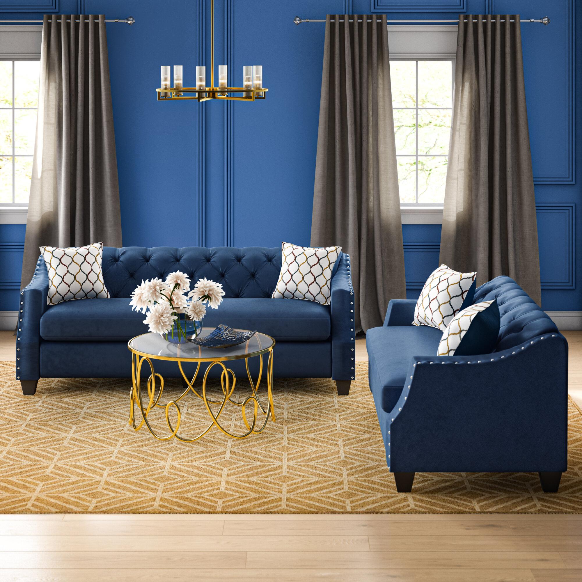 House of Hampton® Bostick 2 Piece Standard Living Room Set