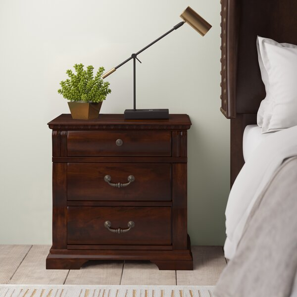 Starnes 3 Drawer Bachelors Nightstand by Astoria Grand