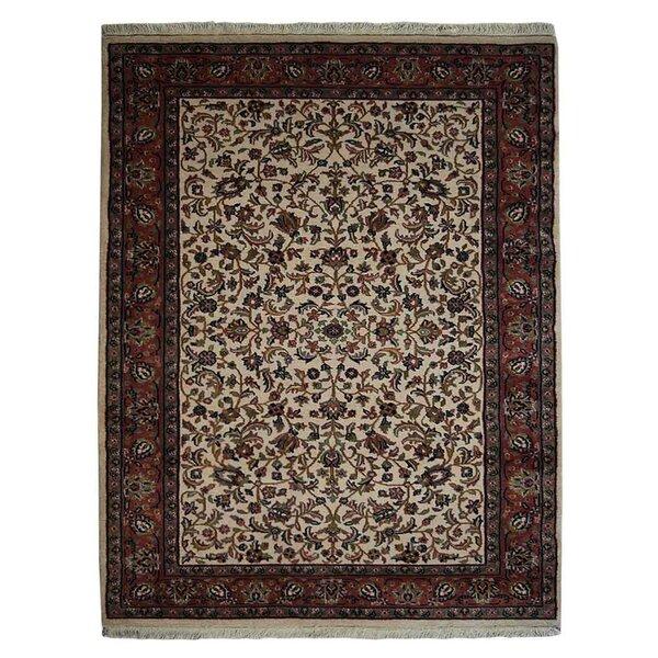 Dorman Persian Hand-Woven Wool Cream Area Rug by Canora Grey