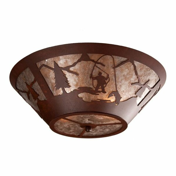 Fly Fisherman 2-Light Flush Mount by Steel Partners