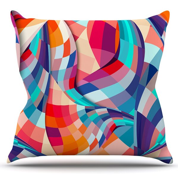 Versicolor by Danny Ivan Outdoor Throw Pillow by East Urban Home