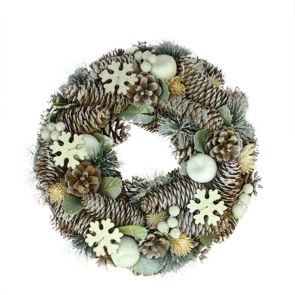 Pine Cone and Fruit Artificial Christmas Wreath by Northlight Seasonal